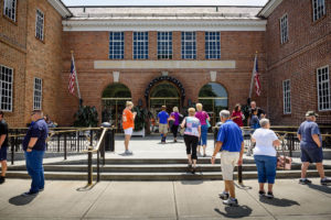 Front of the Baseball Hall of Fame building