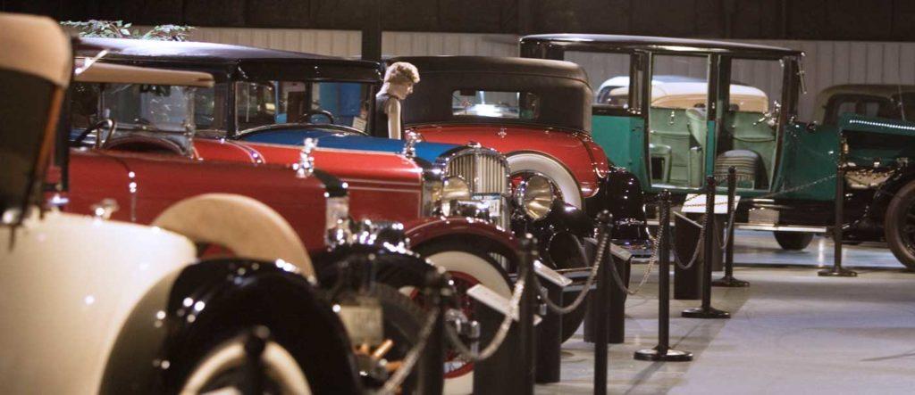 Aisle of classic cars